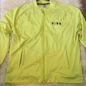 PINK Neon Yellow Workout Sweater